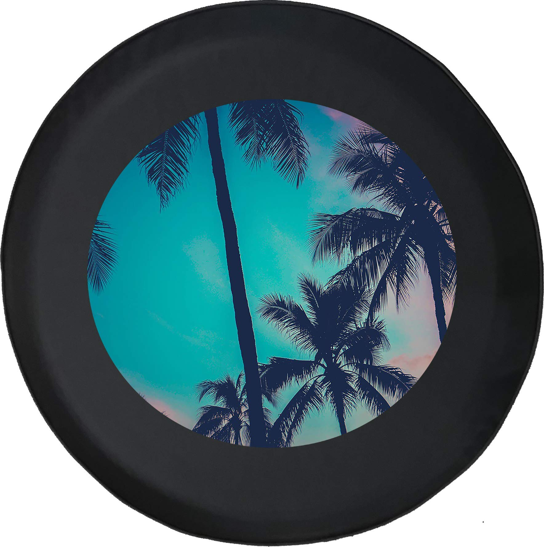 Spare Tire Cover Palm Tree Sunset Beach Adventure Offroad 4x4 Lifted Grill fits SUV or Camper RV Accessories Black Size 28 Inch by Shorian Tire Covers
