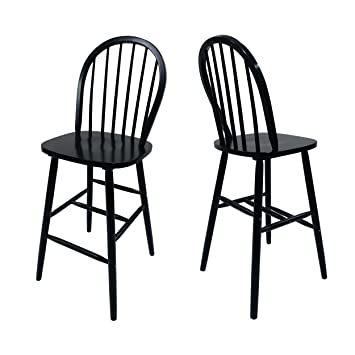 Cool Christopher Knight Home Lopez Spindle Bar Stools Rubberwood Traditional Farmhouse Style Black Set Of 2 29 2 Seats Beatyapartments Chair Design Images Beatyapartmentscom
