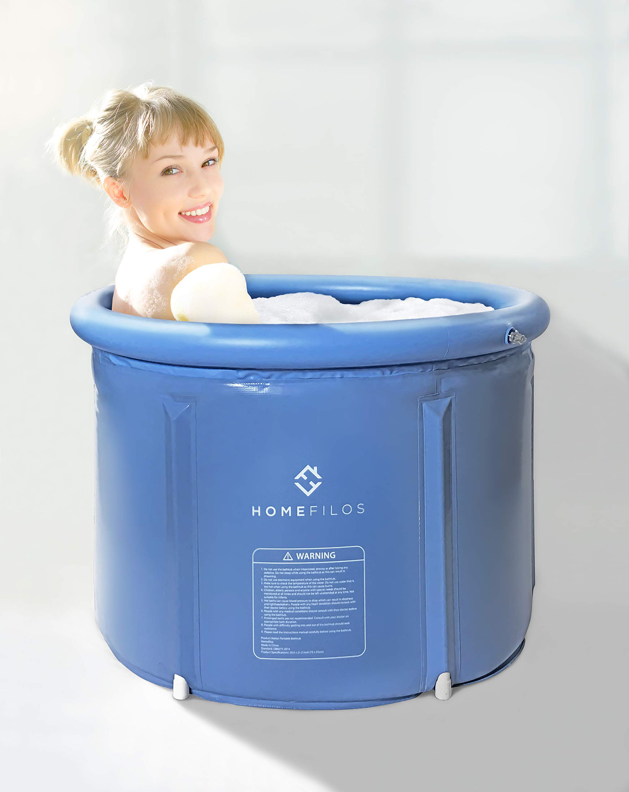 . Details about Portable Bathtub  Small  by Homefilos  Japanese Soaking Bath  Tub for Shower