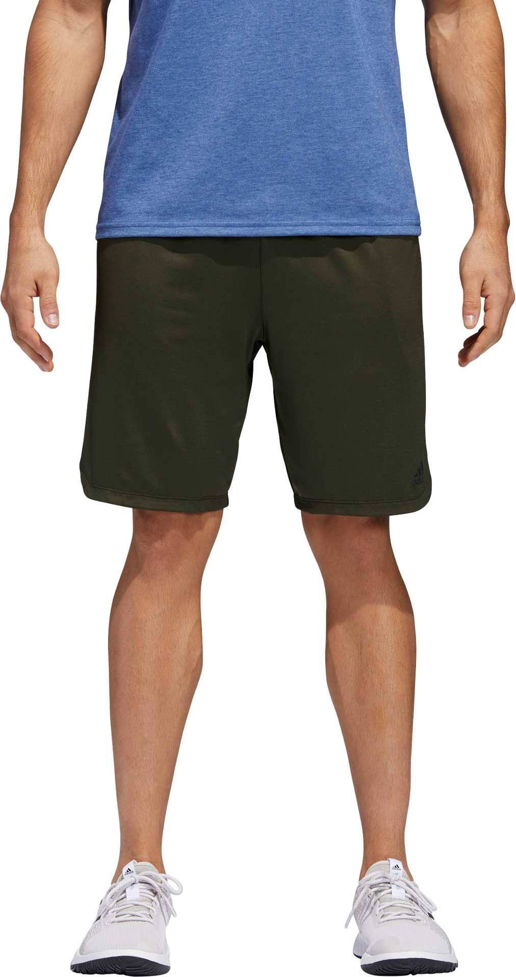 adidas Mens Axis Knit Elastic Waistband Athletic Training Shorts