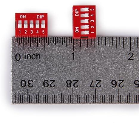 4 P.ZZI INTERRUTTORE DIP SWITCH MODULO 1 CONTATTO 2 POSIZIONI 2,54 mm