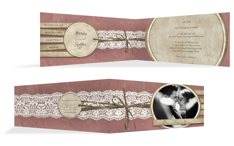 Hochzeit Dankeskarte Vintage Lace, 20 Karten, Hellbraun B07B6RM3FR | Erschwinglich  | Große Klassifizierung  | Kompletter Spezifikationsbereich