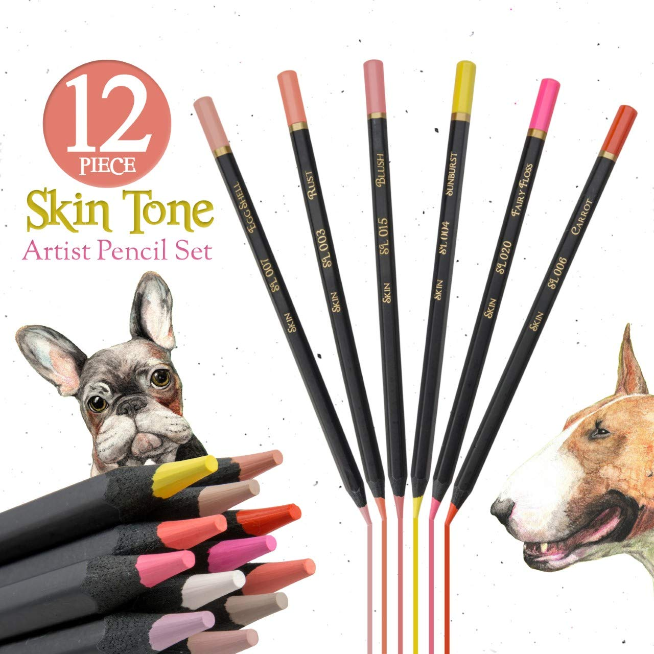 Light Skin Tone Color Pencils for Portrait Set - Colored Pencils for Adults and Skintone Artist Pencils by Medihealth 1 (Image #4)