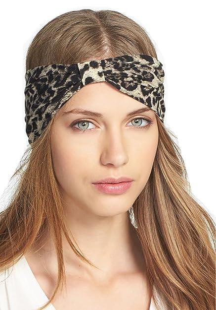 3abedecf499 WIIPU Twist Turban Style Stretch Knot Headband Workout Yoga Gym Hair  Band(wiipu-N12
