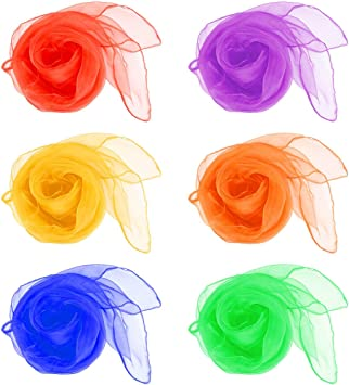 QLOUNI 12pcs Pañuelos de Malabares/ Bailar con los pañuelos ...