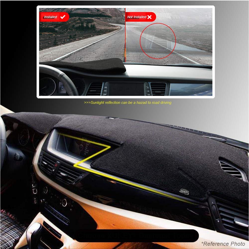 XDDXIAO Dash Mat Dashmat Dashboard Cover Parasole Dash Board Cover Tappeto per Ford Focus 3 MK3 2012 2013 2014 2015 2016 2017 2018 2018,Nero