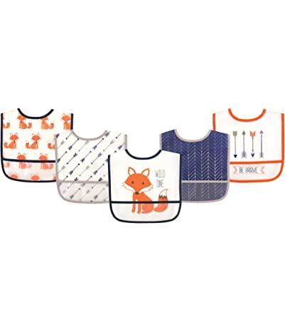 Hudson Baby Waterproof Bib with Crumb Catcher...
