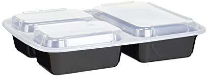 Reditainer 3-Compartment Microwave Safe Food Container with Lid/Divided Plate/Lunch Tray  sc 1 st  Amazon.com & Amazon.com: Reditainer 3-Compartment Microwave Safe Food Container ...