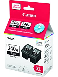 Genuine Canon PG-240XL HIGH Yield TWIN Ink Cartridge Value Pack, Black, 2 Pack