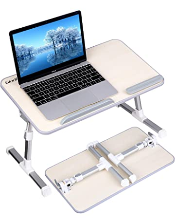 Gladle Foldable Laptop Table Stand for Bed, Height Tilt Angle Adjustable Lap Desk Computer Table