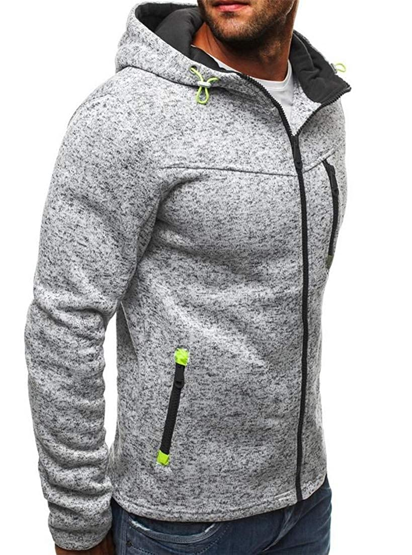 Joe Wenko Mens Sports Sweatshirt Tops Full-Up Training Hoodies Jacket