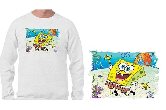 MERCHANDMANIA Sudadera SIN Capucha Bob Esponja Dibujo PIÑA MAR Sweatshirt Custom: Amazon.es: Ropa y accesorios