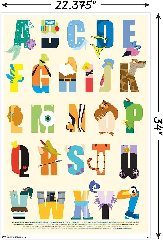 Amazon Com Trends International Disney Alphabet Wall Poster 22 375 X 34 Posters Prints