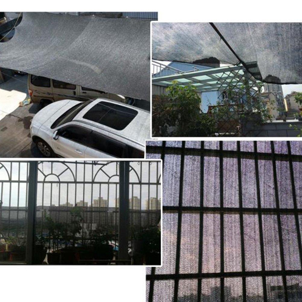 Hyzb Gewächshaus-Patio-Dach-tragbarer Sunblock Schatten-Stoff-Blaumen-Pflanzenboden-Abdeckungs-Blatt (Farbe   Schwarz, größe     5 x 5m) B07NS4HYHS Zeltplanen Neuankömmling ec9c84