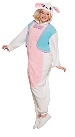 ecb176b411f5 Amazon.com  Forum Novelties 79928 Bunny Onesie Pajama Unisex Costume ...