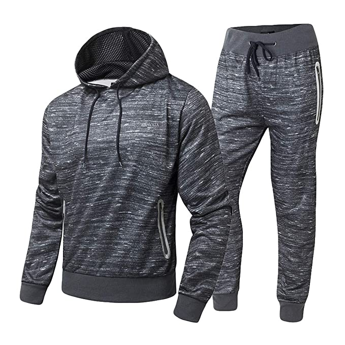 NY Deluxe Edition Men Polyester Fleece Hooded Zipper Top /& Jogging Bottom Active wear Gym Lounge Wear Tracksuit Size S to XL