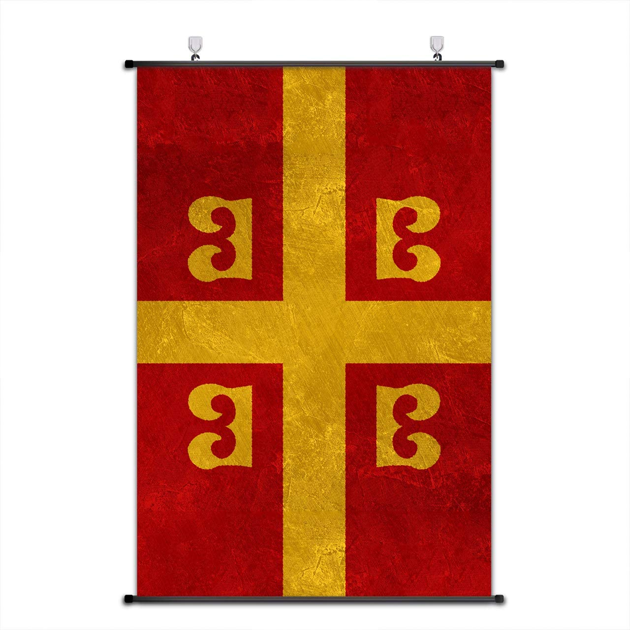 Nice Captain Medieval Coat of Arms Scroll Poster Middle Ages Banner Wall Art Home Decor 75x50cm (Byzantine Empire)