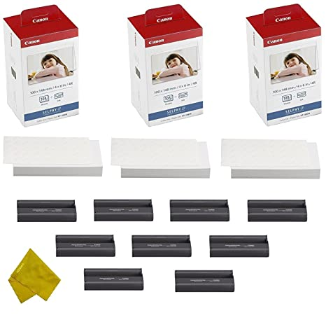 Amazon.com: Canon KP-108IN 9 Cassette y 324 hojas 4 x 6 de ...