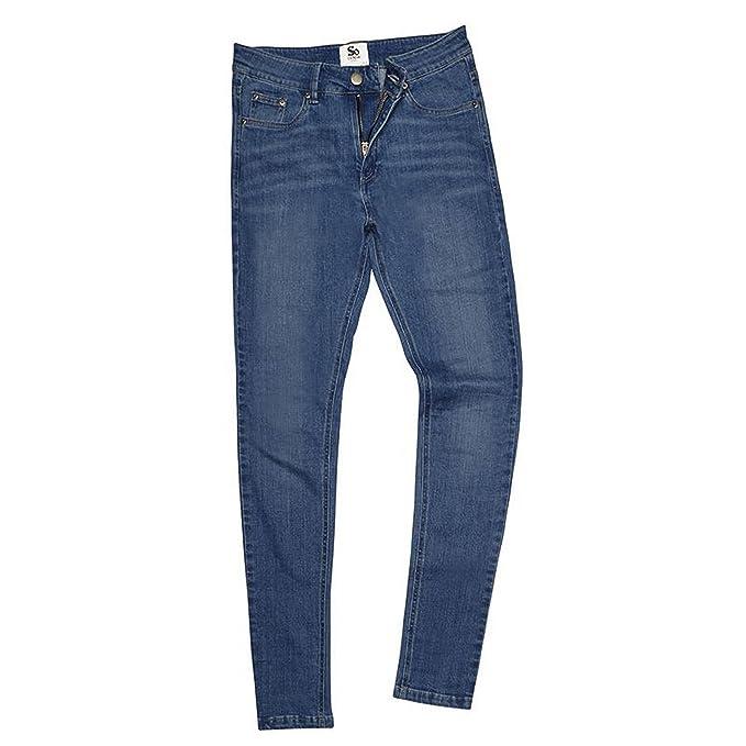 AWDis So Denim - Pantalones vaqueros de talle ajustado para ...