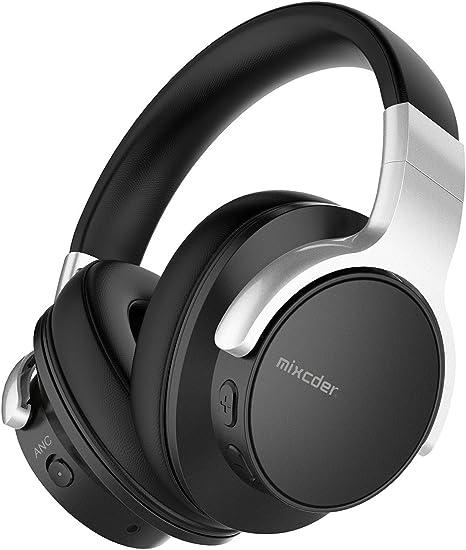 Lifestyle Kopfh/örer Wireless Kopfh/örer Bluetooth Wireless Kopfh/örer Noise Cancelling Stereo Drahtlose Headset Over Ear mit Mikro Lautst/ärkeregler f/ür alle Ger/äte Color : White