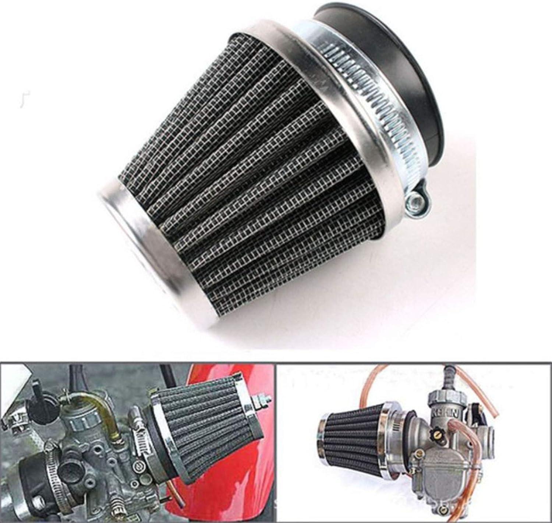 Universal Tuning Sportluftfilter 2 Gr/ö/ßen Motorrad Luftfilter Schwarz Fit Modifizierter Filter F/ür Motorrad Doppelschicht Stahl Entl/üfter Racing Tuning Sport Luftfilter f/ür Motorrad Scooter ATV Moped