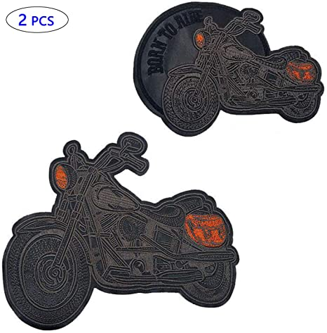 """2pcs large biker embroidered jacket patch biker vest eagle motorcycles  6/"""" x 8/"""""""