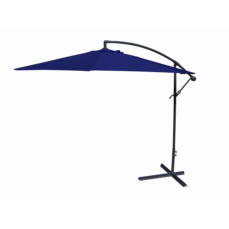 "Amazon 10"" Navy fset Umbrella 120"" x 120"" x 84"" Patio"