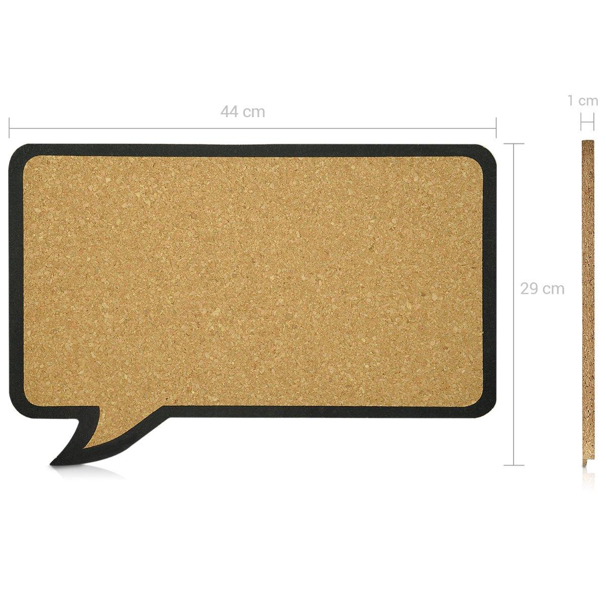 Reindeer Design 29x45cm Navaris Cork Notice Board Includes 10 Pins Message Noticeboard Memo Shape Display Bulletin Pinboard for Home or Bedroom