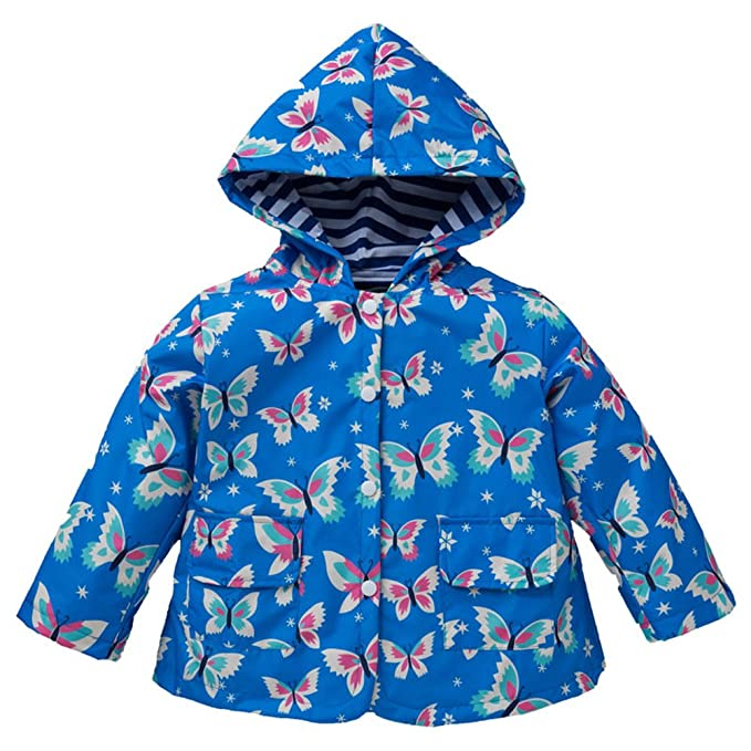 new styles best collection usa cheap sale Amazon.com: Girl Baby Kid Waterproof Butterfly Hooded Coat ...