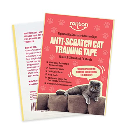Who Knew That Cats Are Their Protectors >> Amazon Com Anti Scratch Tape For Cats 5 Xl 12in X 17in Full