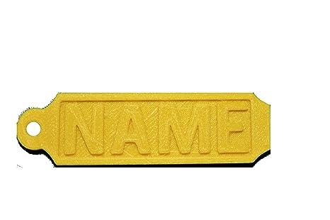 Etiquetas de goma 3D personalizadas para llavero, no pierda ...