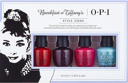 OPI Breakfast at Tiffanys Collection, Esmalte de uñas, color surtido, pack de 4: Amazon.es: Belleza