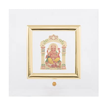Buy Diviniti Ganesha 24 Carat Gold Plated Picture Photo Frame( 10 x ...