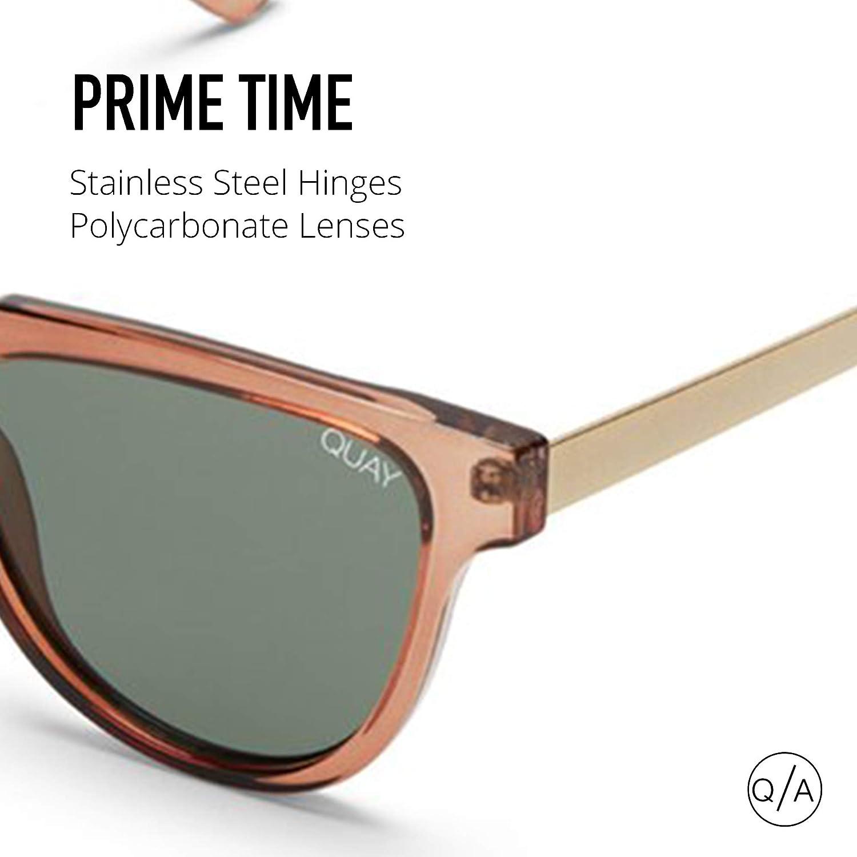 e00ee432ce1 Quay Australia PRIME TIME Women s Sunglasses Rectangular Cateye - Toffee  Green  Amazon.co.uk  Clothing
