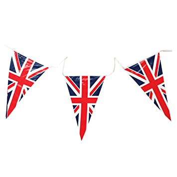 Union Jack Triangular Bunting 25 Pendant Flags @ 7m long by ...