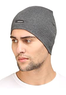 beb55fd4a Buy FabSeasons Unisex Cotton Slouchy Beanie and Skull Cap (Black ...