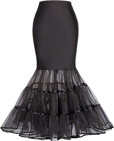 NVDKHXG Faldas de Tul Negro para Mujer Fiesta de Bodas de la ...