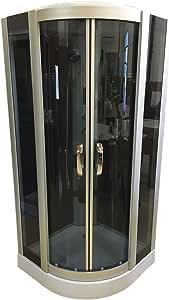 DUCHA CABINA DE HIDROMASAJE Modelo New York 90 x 90 cm SPA RADIO CROMOTERAPIA: Amazon.es: Bricolaje y herramientas