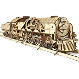 S.T.E.A.M. Line Toys UGears Models 3-D Wooden Puzzle - Mechanical V-Express Steam Train with Tender