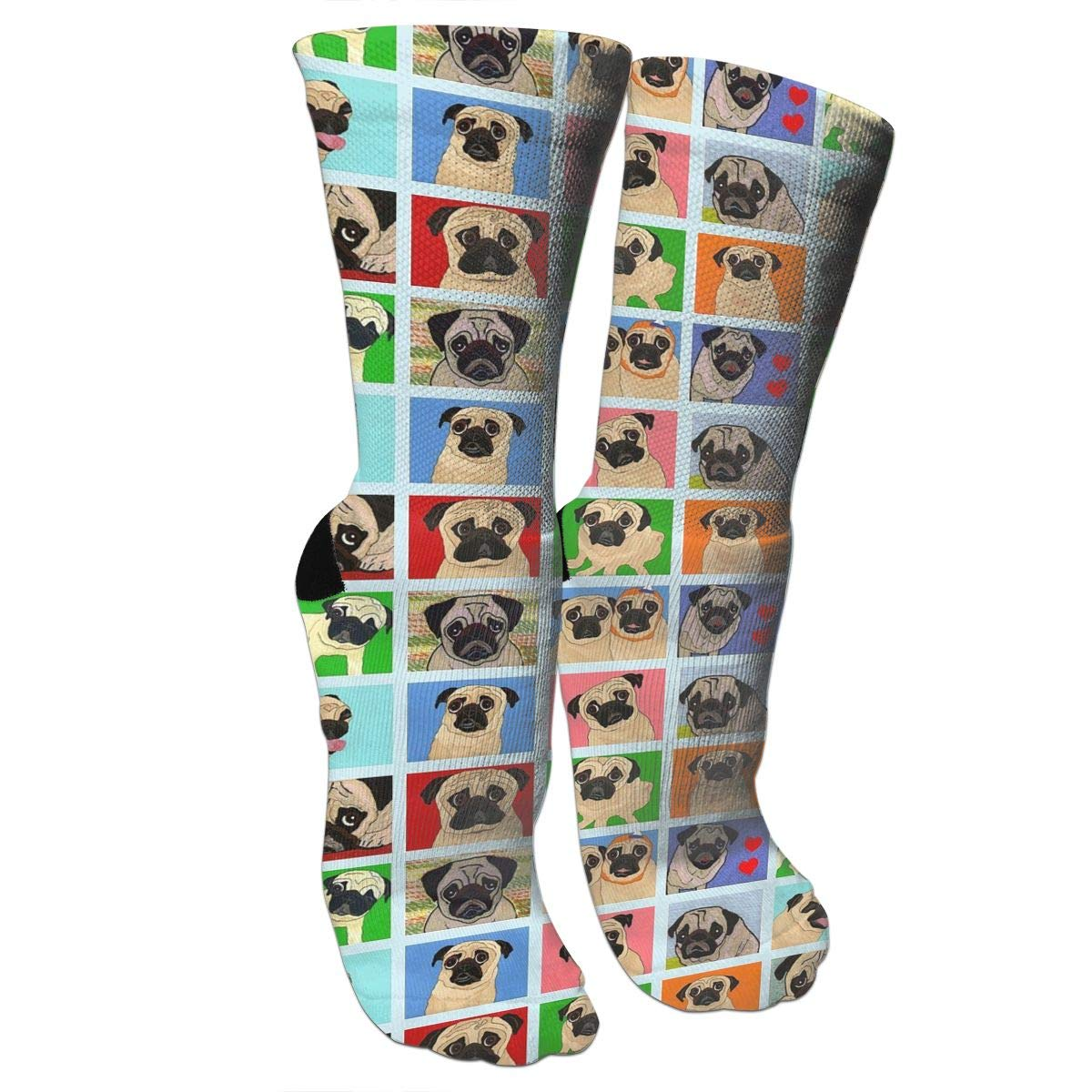 PUG Cute Pattern Casual Cotton Crew Socks Cute Funny Sock,great For Sports And Hiking