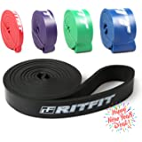 """RitFit 41"""" Pull Up Assist Band - Heavy Duty Resistance Band for Pull-up Assistance, Resistance Exercise, Mobility, Stretch, Powerlifting - Starter e-Guide INCLUDED"""