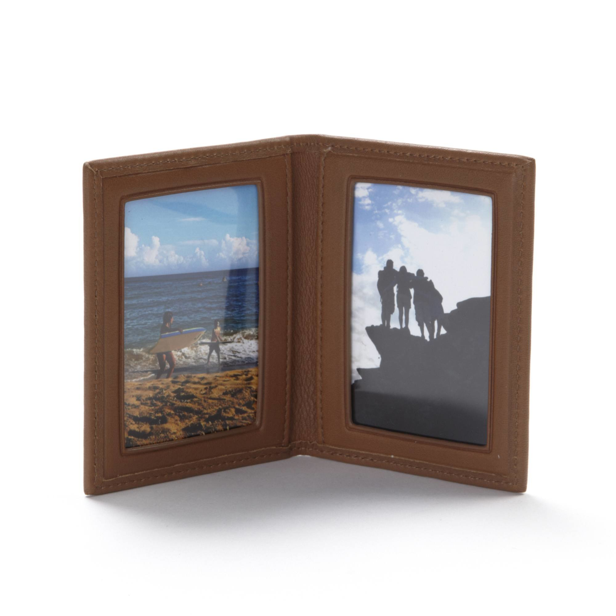 Travel Frame - Full Grain Leather - Cognac (brown)