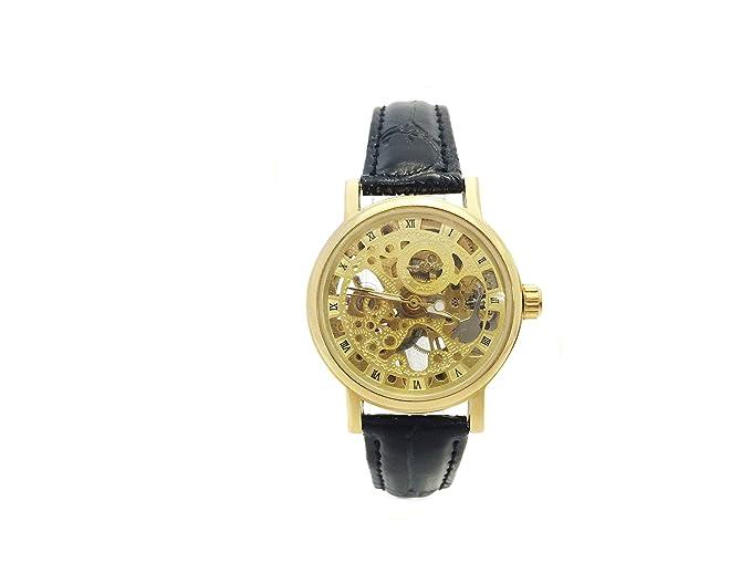 CHATEAUX WOMAN STYLE Collection - Reloj mecánico de Cuerda Manual para Mujer con Correa de Piel, Color Dorado: Amazon.es: Relojes
