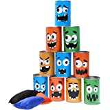 iBaseToy Carnival Games Bean Bag Toss Game for Kids & Adults - Carnival Party Supplies Easter Games Tin Can Alley Game…