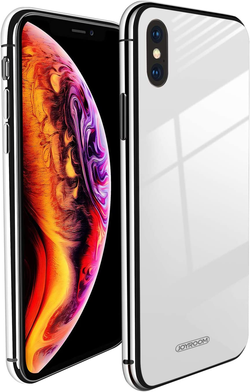 Tempered Glass Back Black Hybrid Crystal Clear with Soft Black TPU Bumper Cover Shockproof Thin Slim Protective Phone Case for iPhone Xs Max 6.5 OCYCLONE Clear iPhone Xs Max Case,