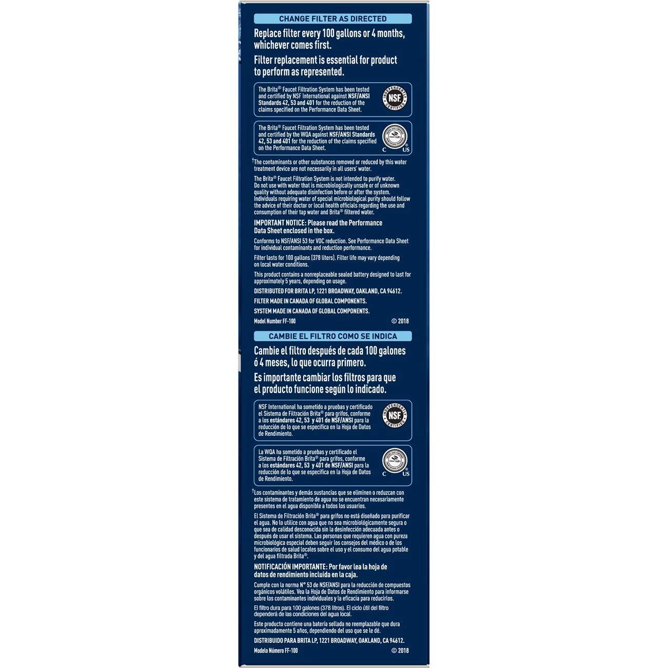 Brita On Tap Sistema de filtración, Blanco, 1-paquete, 1, 1