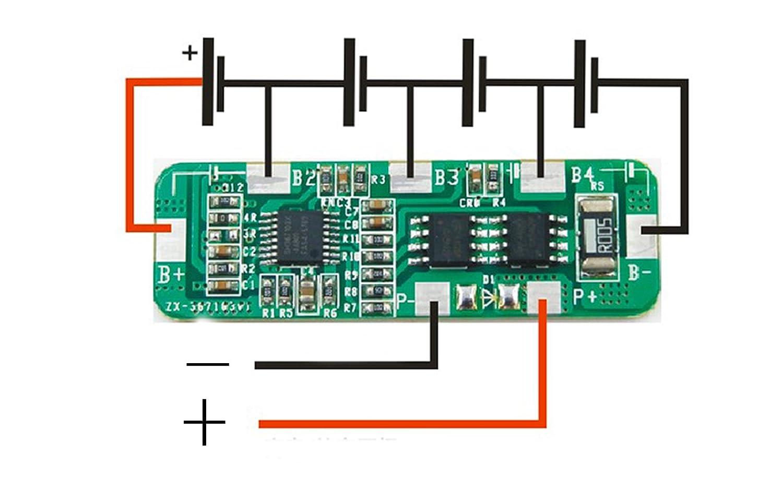 4S Li-ion batería de litio Li-DE envío 18650 Cargador tabla de ...