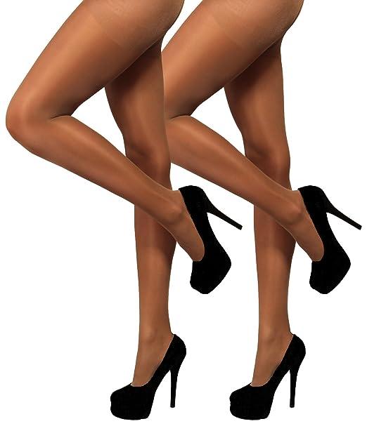 c8881349b56 Amazon.com  YENITA 2 Pack Silky Shimmery Dance Tights High Gloss 80 DEN   Clothing