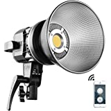 GVM LED Video Light CRI97+ with Bowen's Mount 80W Color Temperature 5600K Dimmable LED Daylight for Photography Shooting Ligh