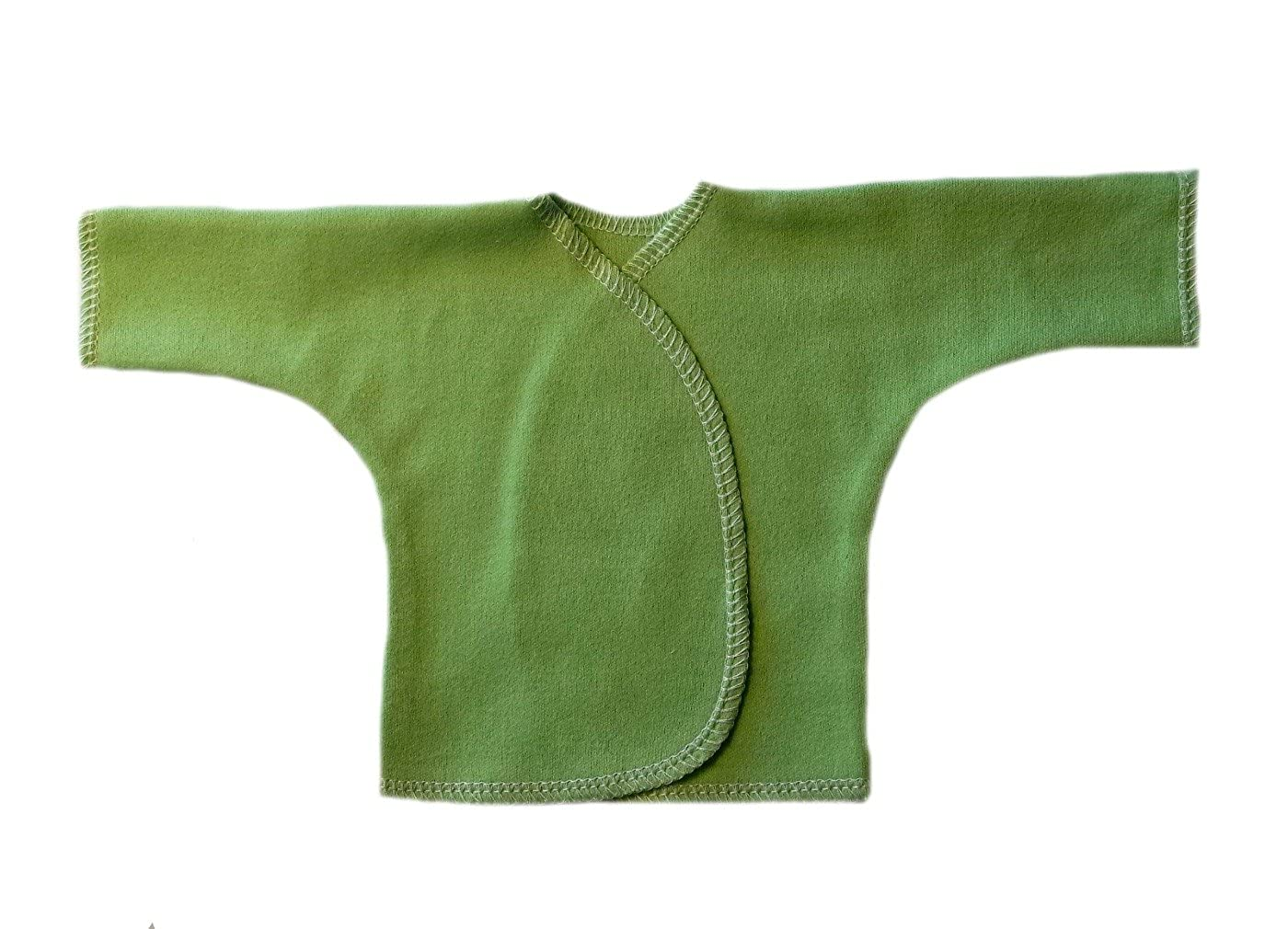 Jacquis Unisex Baby Cotton Knit Long Sleeve Shirts Lime Green 0-3 Months Lots of Colors